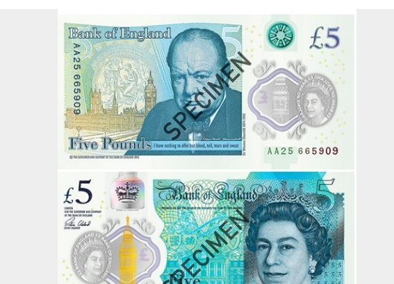 В Англии показали первую пластиковую банкноту