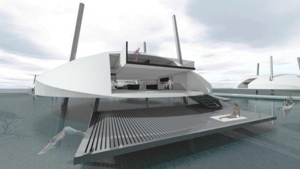 Архитекторы Terry & Terry Architecture представила, как будет выглядеть дом на воде.