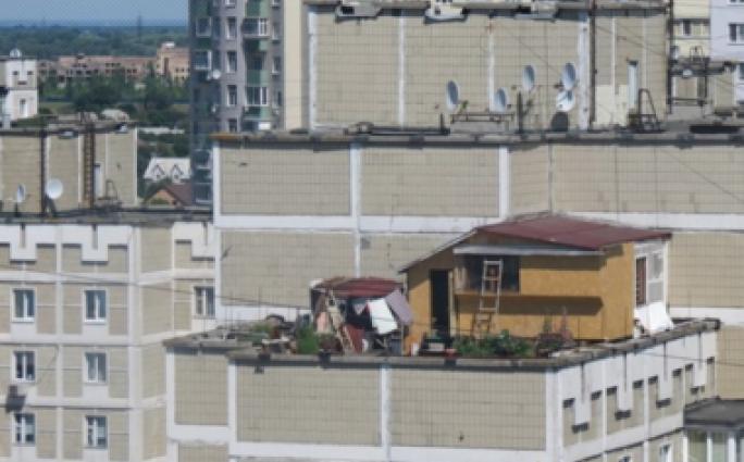 Домик на крыше многоэтажки