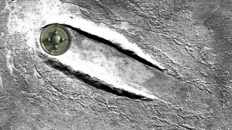 NASA опубликовало снимки места посадки НЛО на Марсе (видео)