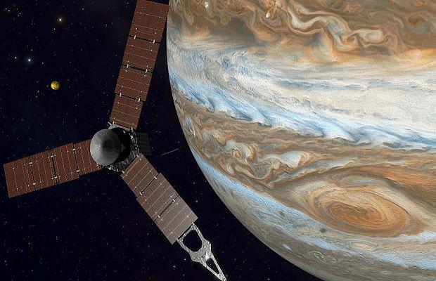 Google отметил новым дудлом выход «Юноны» на орбиту Юпитера