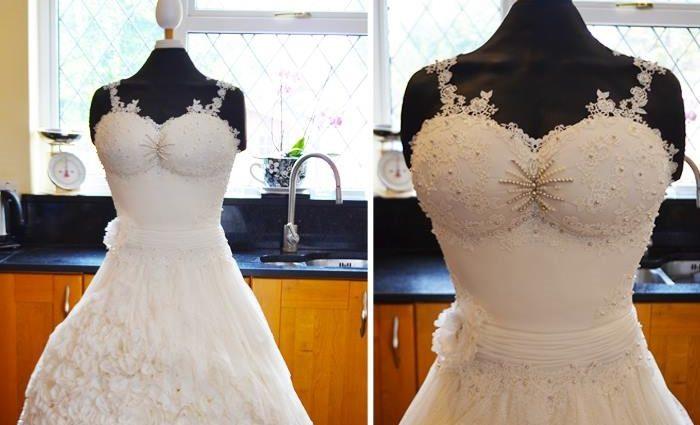 Это шикарное свадебное платье не хотела одеть ни невеста … Вы заметили почему? (ФОТО)