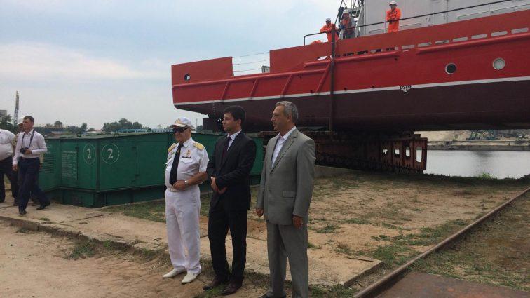 В Киеве на воду спущено судно «Капитан Черемных» после модернизации