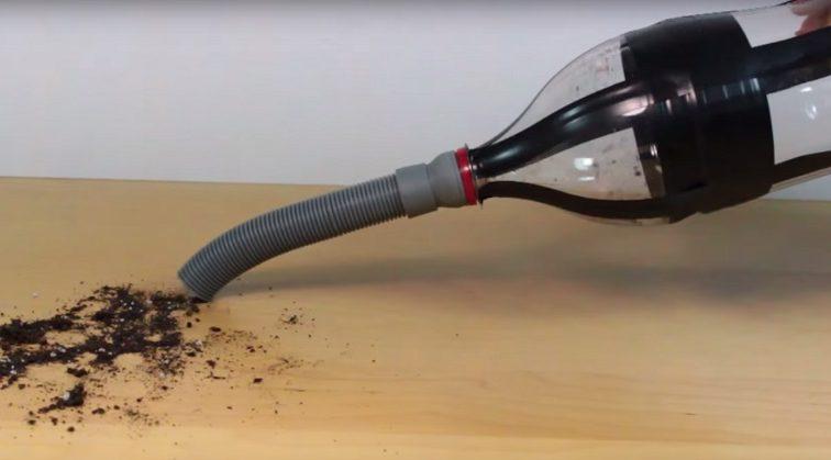 Как из простой бутылки сделать современный пылесос, элементарно
