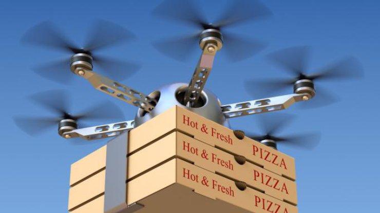 Пиццу в Одессе доставляют дроны