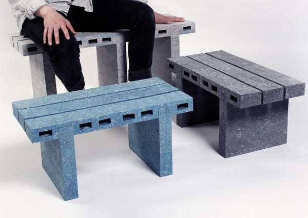 Красивая мебель из газет