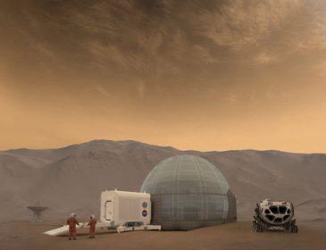 NASA предлагает строить на Марсе дома из льда