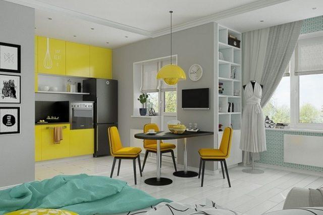 Квартира-кавалерка: как образовать огромное пространство в маленьком помещении?