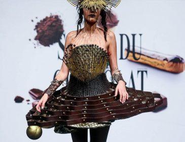 В Бельгии дизайнеры показали аппетитные  коллекцию одежды из шоколада