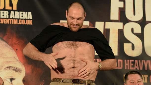 Скандальный боксер Тайсон Фьюри во время депрессии растолстел до 160 кг