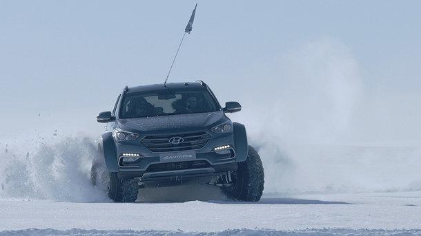 Hyundai Santa Fe стал первой легковушкой, пересекшей Антарктиду