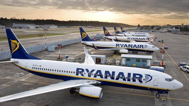 Ryanair хочет запустить из Украины еще 50 авианаправлений