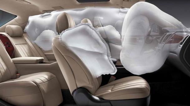 Ford придумал подушку безопасности на потолке
