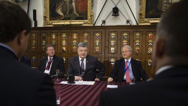 Британский бизнес инвестировал в Украину 2 млрд долларов – Порошенко