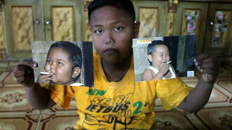 Самый юный курильщик в мире поразил изменениями во внешности