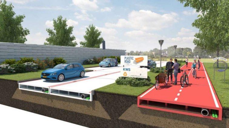 В Британии решили, что дорожное полотно из пластика дешевле и крепче за асфальт