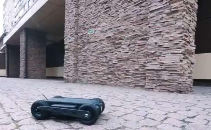 Нового робота-разведчика показали украинские изобретатели