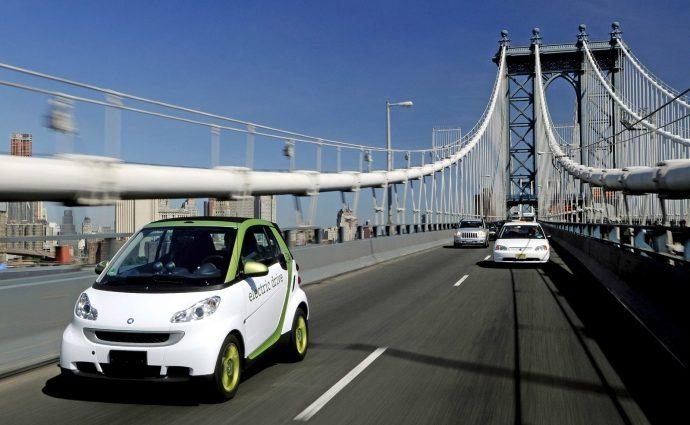 Электромобилям разрешат ездить по полосе общественного транспорта