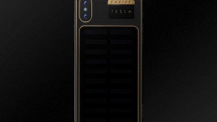 С жиру бесятся: iPhone X Tesla снабдили золотыми вставками