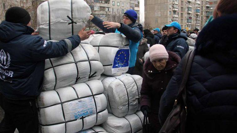 Более 525 млн евро ЕС выделил на гуманитарную помощь на Донбассе