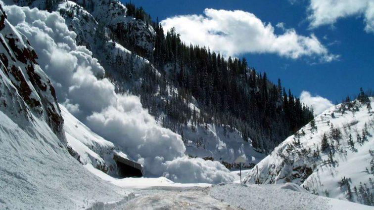 В Карпатах группа туристов попала под снежную лавину