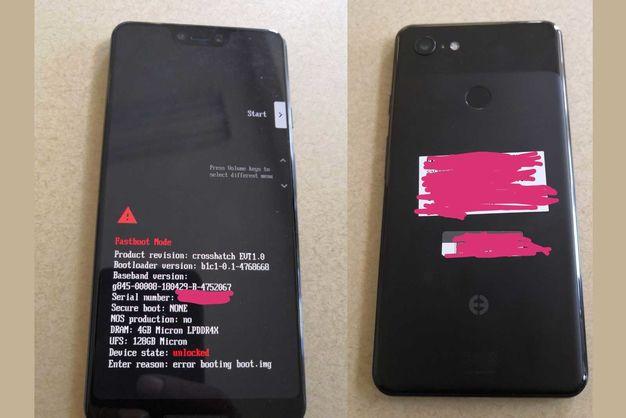 Появилось первое фото Google Pixel 3 XL